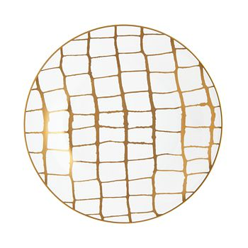 Domenico Vacca by Prouna - Alligator Gold Dinner Plate