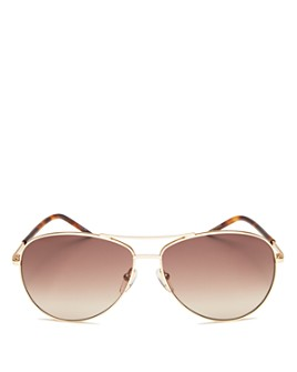 MARC JACOBS - Women's Brow Bar Aviator Sunglasses, 59mm