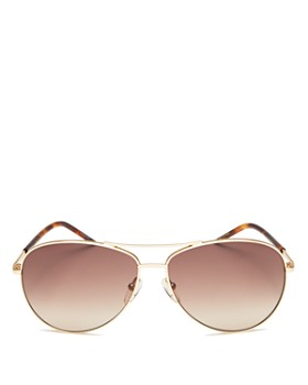 MARC JACOBS - Women's Brow Bar Aviator Sunglasses, 59mm