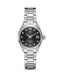 TAG Heuer Carrera Calibre 9 Watch with Diamonds, 28mm - Bloomingdale's_0