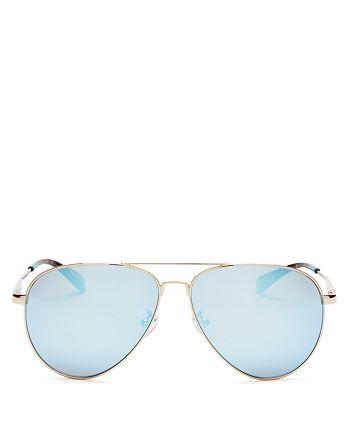 b36b0d11522c TOMS Women's Mirrored Maverick Aviator Sunglasses, 60mm | Bloomingdale's