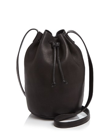 $Baggu Drawstring Leather Bucket Bag - Bloomingdale's