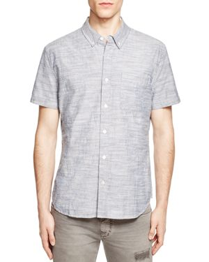 Ag Jeans Chambray Jacquard Regular Fit Button-Down Shirt