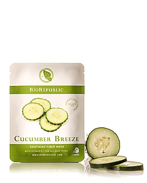 BioRepublic Cucumber Breeze Soothing Fiber Sheet Mask, 1 Mask