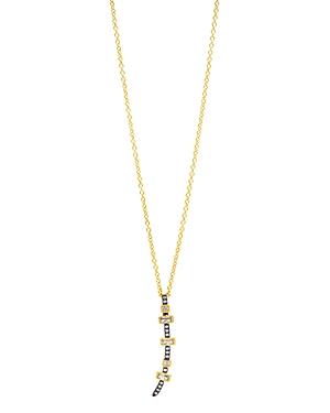 Freida Rothman Baguette Bar Drop Pendant Necklace, 16