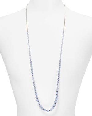 Chan Luu Blue Lace Agate Beaded Necklace, 36