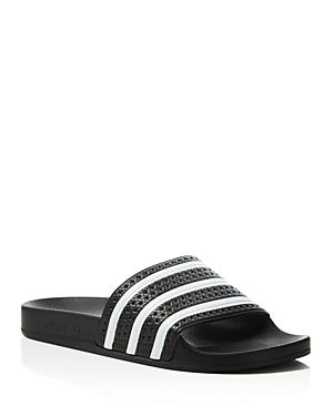 Adidas Adilette Embossed Stripe Slide Sandals