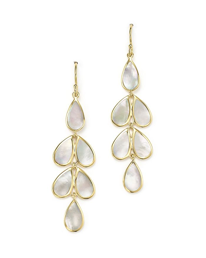 IPPOLITA - 18K Yellow Gold Rock Candy® Cascade Teardrop Earrings with Mother-of-Pearl