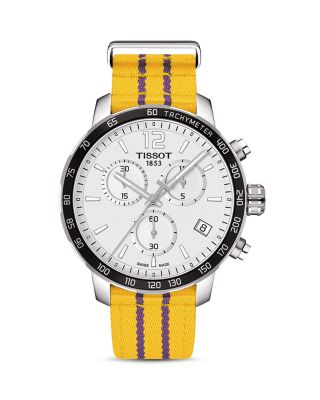 LOS ANGELES LAKERS QUICKSTER STAINLESS STEEL CHRONOGRAPH, 42MM