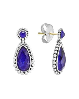 Sterling Silver Maya Lapis Doublet Small Earrings