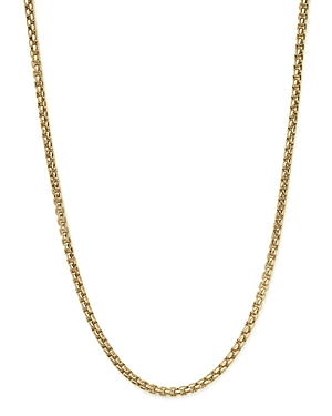 Box Link Necklace in 14K Yellow Gold, 20 - 100% Exclusive