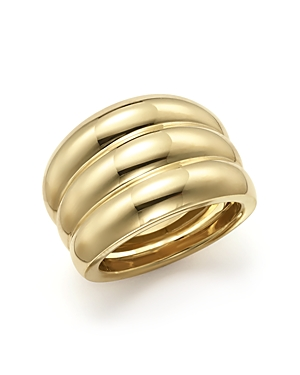 Triple Band Ring in 14K Yellow Gold - 100% Exclusive