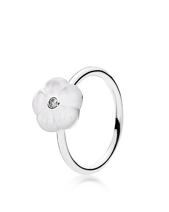 Pandora - Ring - Sterling Silver, Cubic Zirconia & Mother of Pearl Luminous Florals
