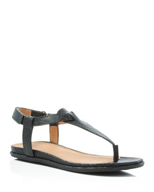 Gentle Souls Oxford Embossed T-Strap Sandals