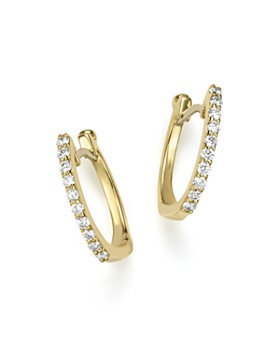 Roberto Coin 18k Yellow Gold Baby Diamond Huggie Hoop Earrings
