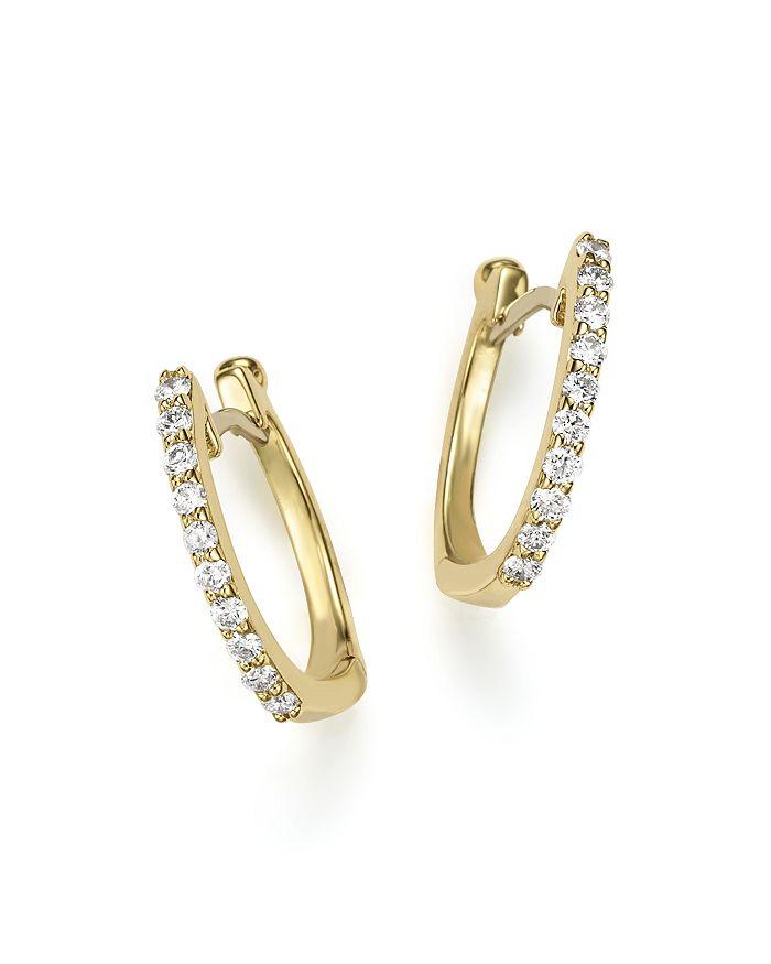 706c2a7ec22 18K Yellow Gold Baby Diamond Huggie Hoop Earrings