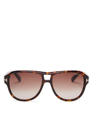 Tom Ford Dylan Aviator Sunglasses, 57mm
