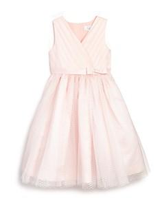 US Angels - Girls' Tulle Overlay Ballerina Flower Girl Dress - Little Kid