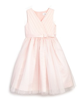 US Angels - Girls' Tulle Overlay Ballerina Flower Girl Dress - Little Kid