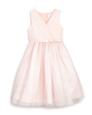 Us Angels Girls' Tulle Overlay Ballerina Flower Girl Dress - Little Kid thumbnail
