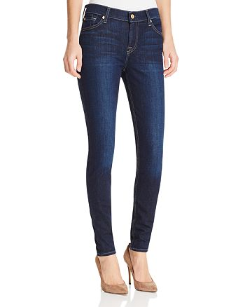 7 For All Mankind - Gwenevere Skinny Jeans in Dark Wash - Compare at $189