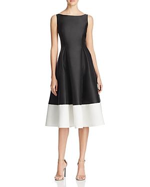 Adrianna Papell Petites Color Block Dress