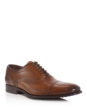 To Boot New York - David Leather Medallion Cap Toe Oxfords
