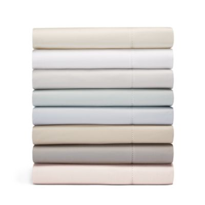 600TC Sateen Solid Fitted Sheet, Full - 100% Exclusive