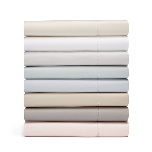 Hudson Park Collection - 600TC Sateen Solid Fitted Sheet, Full - 100% Exclusive