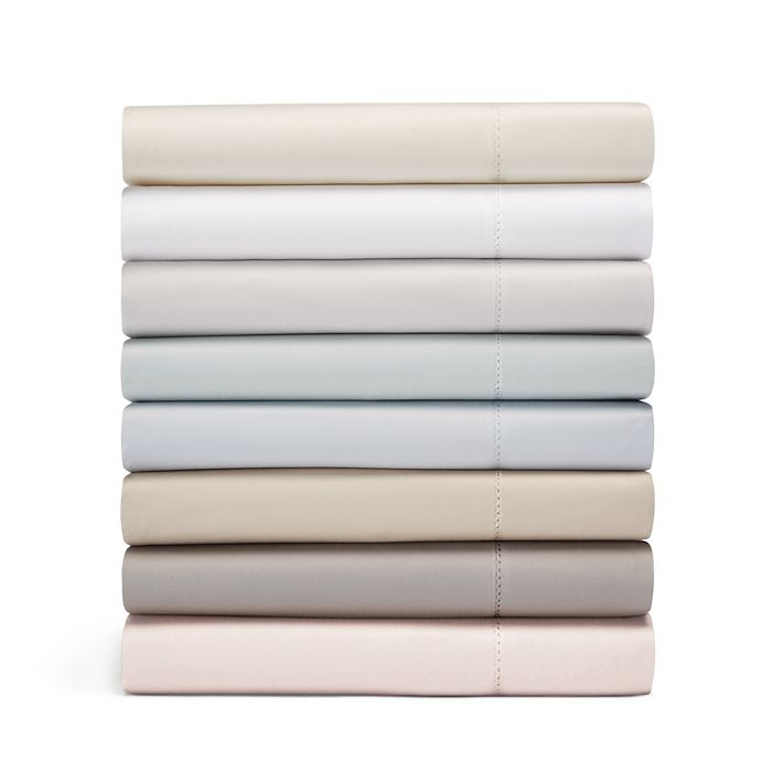 Hudson Park Collection - 600TC Sateen Solid Fitted Sheet, Twin - 100% Exclusive