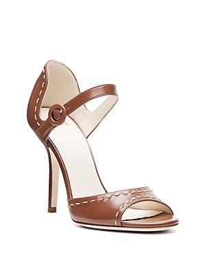 Frances Valentine Rebecca Stitched Open Toe High Heel Sandals