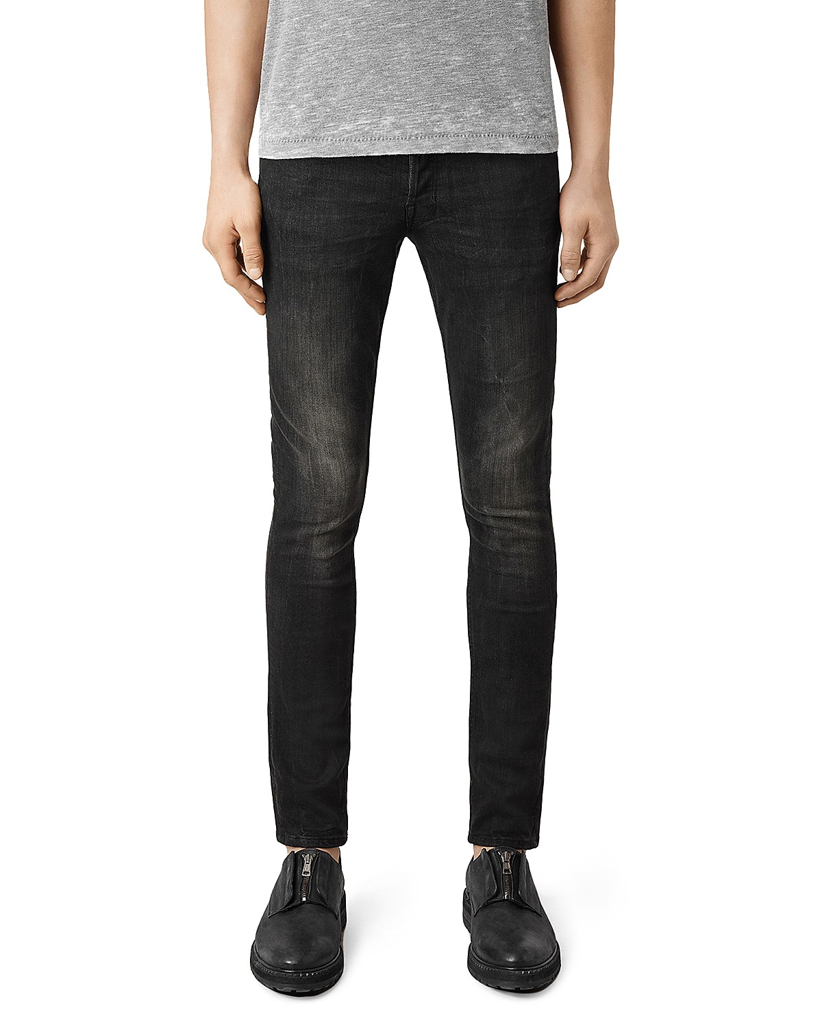 Latest New Allsaints Print Cigarette Jeans Black for Men Sale Online On Sale