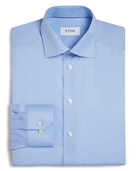 Eton - Basic Regular Fit Small Herringbone Dress Shirt