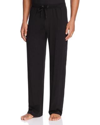 DANIEL BUCHLER Peruvian Pima Lightweight Cotton Lounge Pants in Black