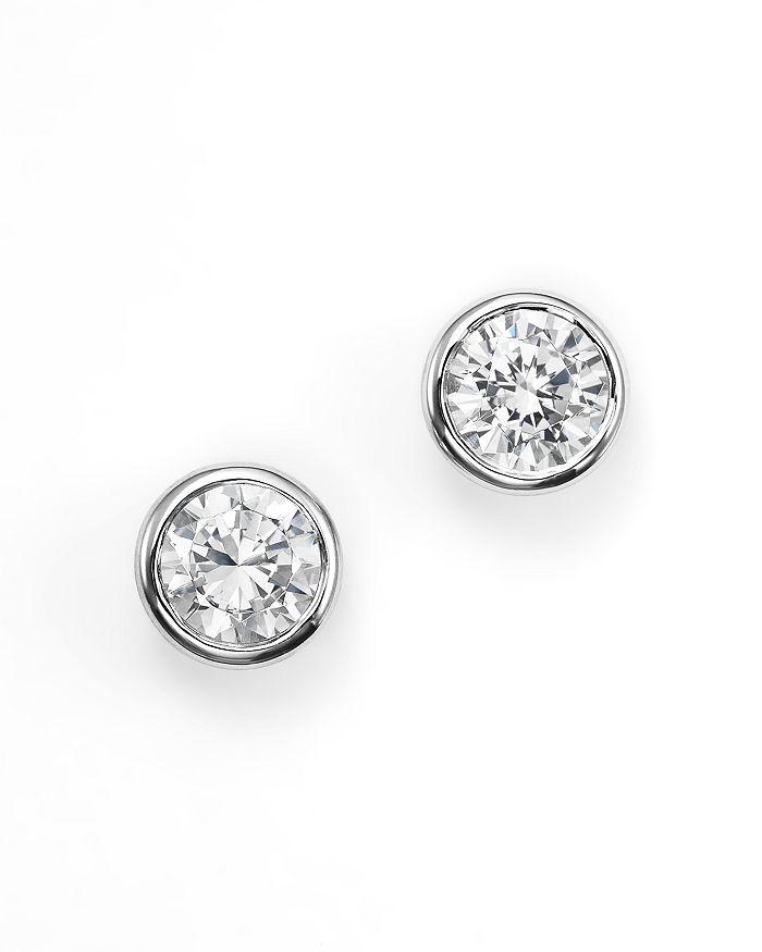 Bloomingdale's DIAMOND BEZEL SET STUD EARRINGS IN 14K WHITE GOLD, 0.50 CT. T.W. - 100% EXCLUSIVE
