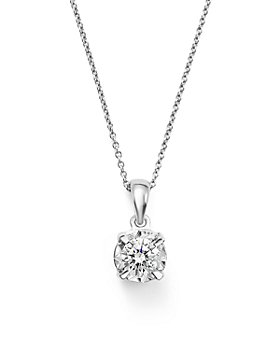 Bloomingdale's - Diamond Solitaire Pendant Necklace in 14K White Gold, .30 ct. t.w. - 100% Exclusive