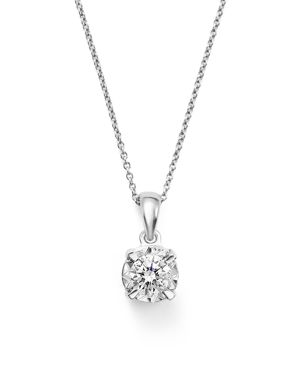 Diamond Solitaire Pendant Necklace in 14K White Gold, .30 ct. t.w. - 100% Exclusive