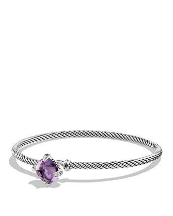 David Yurman - Châtelaine Bracelet with Amethyst and Diamonds