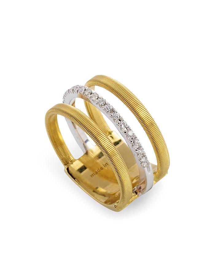 Marco Bicego - 18K Yellow & White Gold Goa Ring with Diamonds