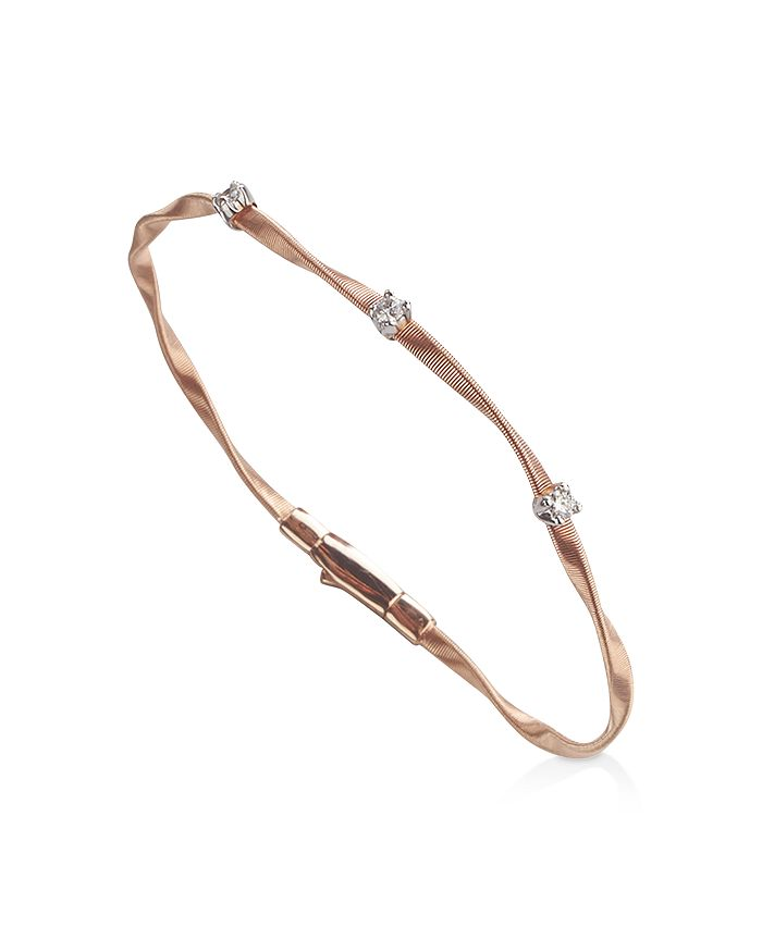 Marco Bicego - Marrakech Bracelet in 18K Rose Gold with Diamonds, .15 ct. t.w.