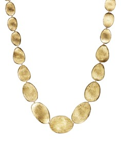 """Marco Bicego - 18K Yellow Gold Engraved Lunaria Necklace, 16"""""""