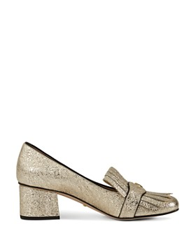 Gucci - Women's Metallic Mid-Heel Pumps