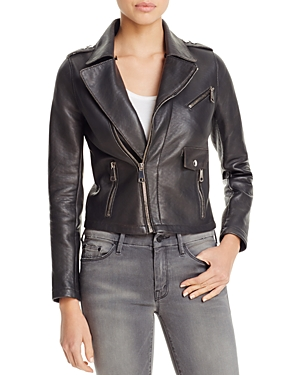 Maje Bluffin Leather Moto Jacket - 100% Exclusive