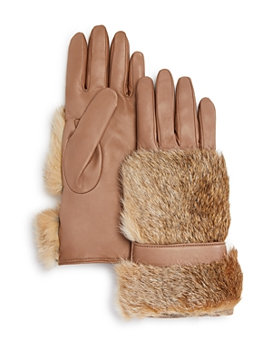 Bloomingdale's Cashmere Lined Rabbit Fur Gloves - 100% Exclusive at Bloomingdale's
