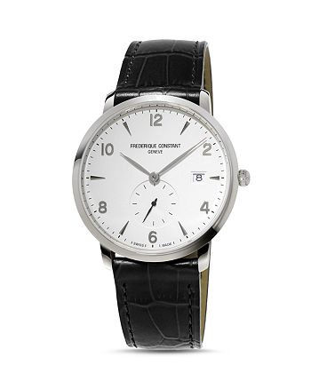 Frederique Constant - Classics Watch with Leather Strap, 38.5mm