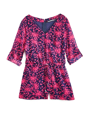 Miss Behave Girls' Floral Romper - Sizes 8-14