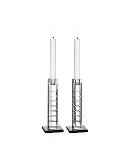 Orrefors - Street Candleholders, Set of 2