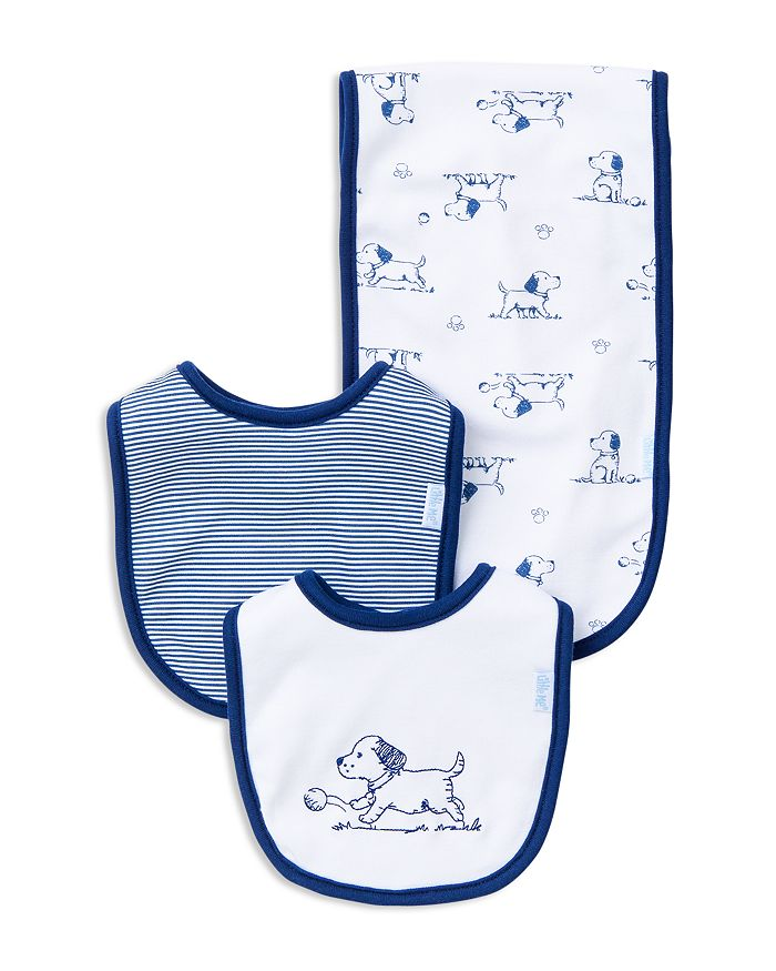 Little Me - Infant Boys' Puppy Bib & Burp Cloth Set - Baby