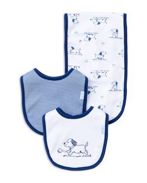 Little Me Infant Boys' Puppy Bib & Burp Cloth Set