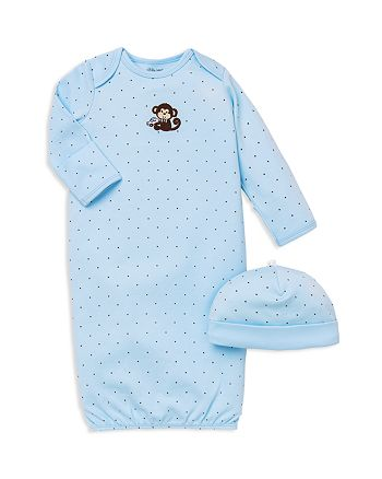 Little Me - Boys' Monkey Star Gown & Hat Set - Baby